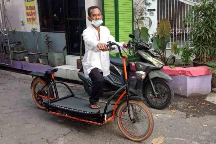 Tukang Tambal Ban Di Semarang Buat Sepeda Treadmill Rp40 Juta